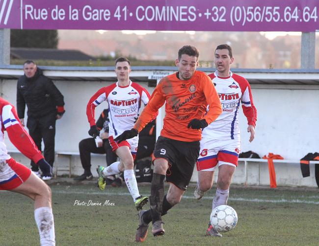 Kévin Sarrazin s'élance pour offrir le but de la victoire a ses couleurs(1-2)