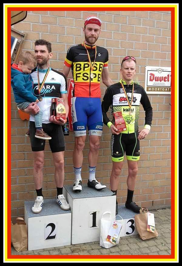 Antoine est devenu aujourd'hui champion de Belgique des services de police, course courue à Bonheiden.