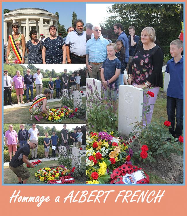 Albert French, le soldat exemplaire et courageux, n'est pas oublié !