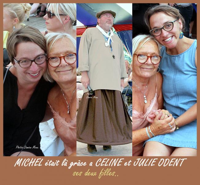 Céline et Julie avec leur amie Françoise et bien sur Michel...