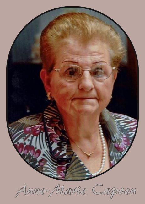 Ploegsteert :Le décès d'Anne Marie Capoen .