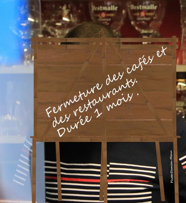 Fermeture des cafés et des restaurants ce lundi 19 octobre , pour une durée d'un mois. Aussi un couvre-feu sera d'application dès minuit jusque 5h du matin.