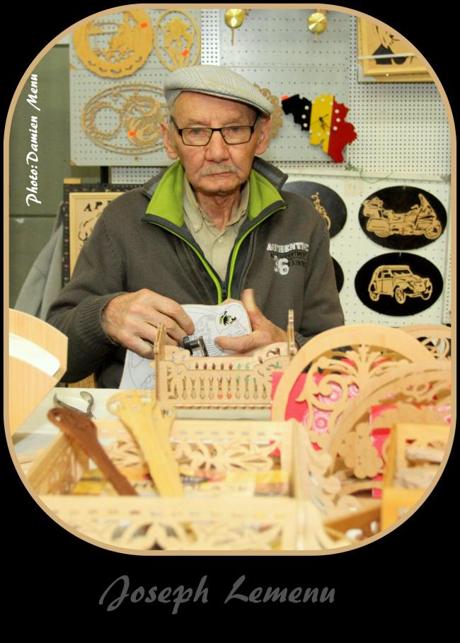 Joseph Lemenu adorait faire des découpes dans le bois pour obtenir des formes et silhouettes attirantes. C'était un artiste .