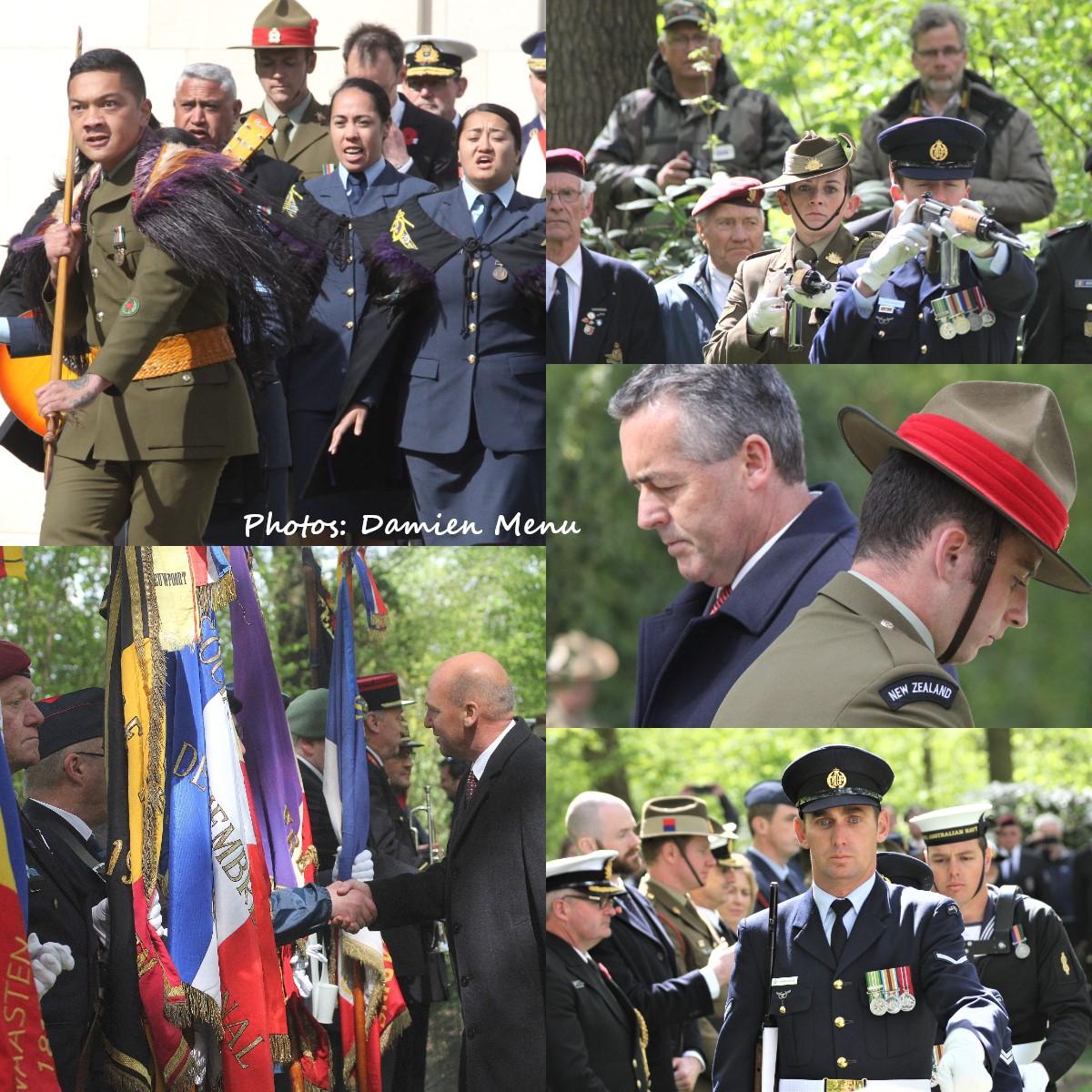 A Ploegsteert :Une cérémonie ou le public est interdit, aujourd'hui l'ANZAC DAY.