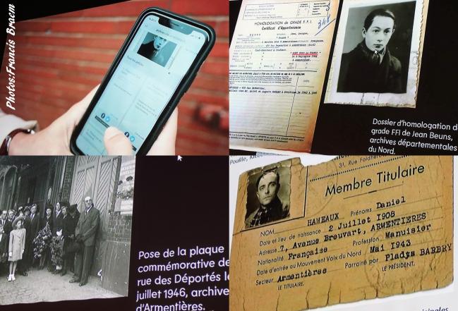 Grâce au QR Code vous pouvez entrer dans les archives de la ville et découvrir les 58 hommes et femmes victimes de l'occupant durant la seconde guerre mondiale.