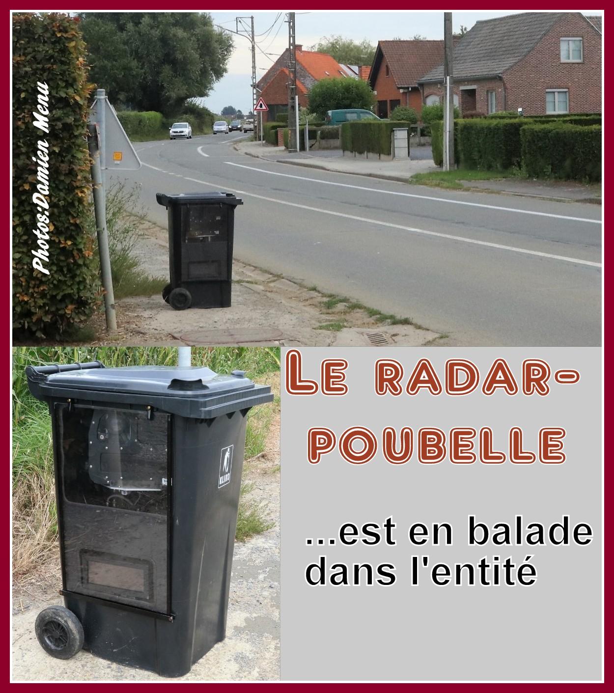 A Comines-Warneton, le radar-poubelle contrôlera la vitesse durant toute la semaine..!