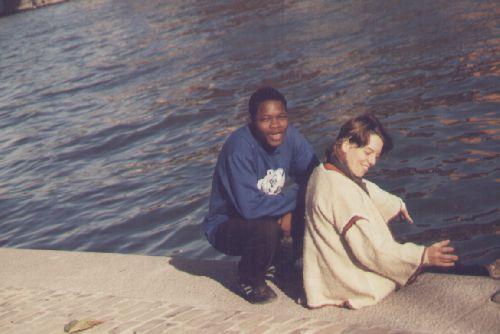 Sur les bords de la  Meuse à Liège (Belgique) en 99