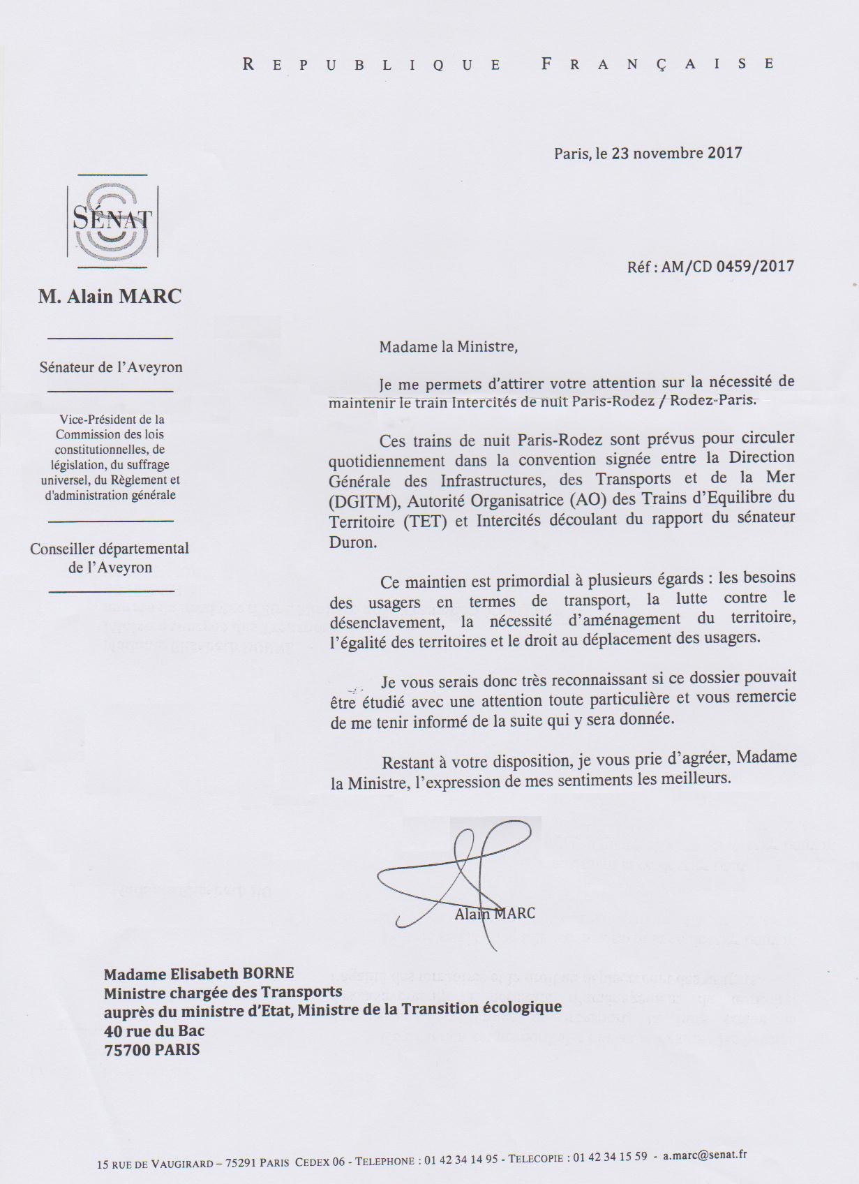 2017-11-23 Lettre Sénateur Marc à Ministre Borne.jpg