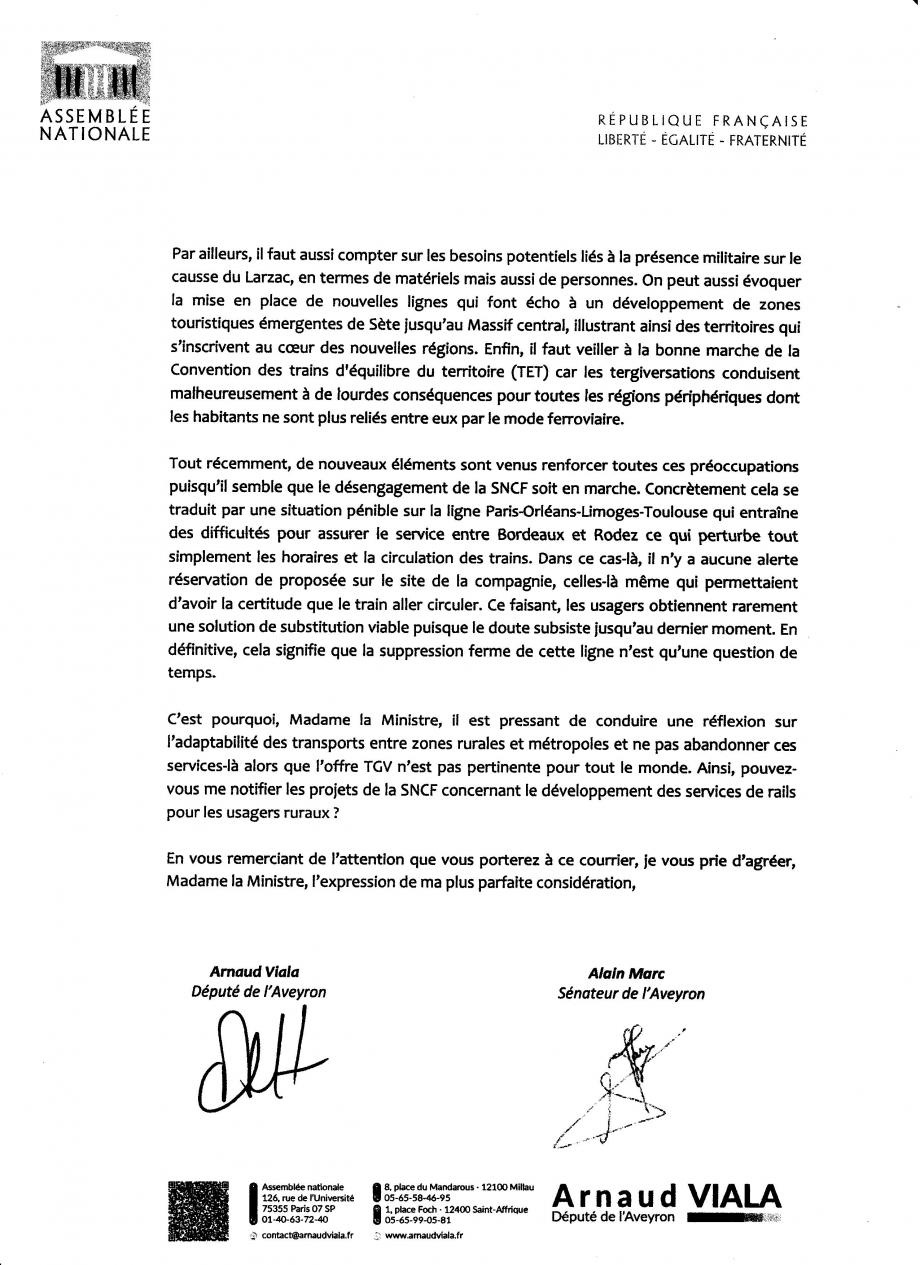 2017-11-23 Lettre Député Viala et Sénateur Marc à Ministre Borne p2.jpg