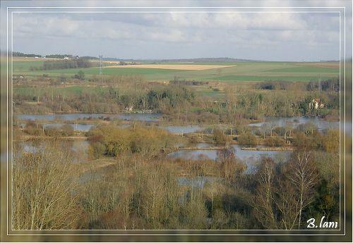Vue panoramique sur les étangs