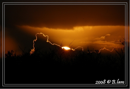 Soleil Couchant un soir de Mars