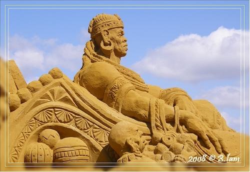 African Safari - Sculptures de Sable Géantes