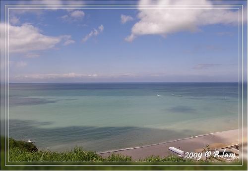 La Mer : Prise de vue du haut de la falaise