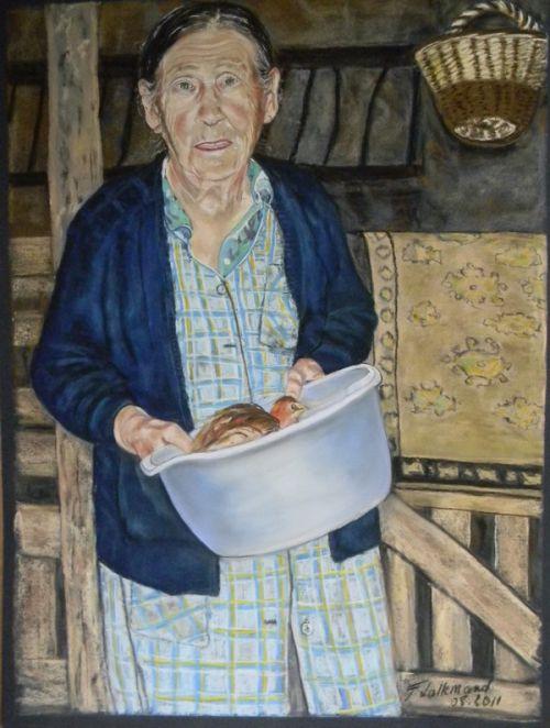 Portrait d'une paysanne