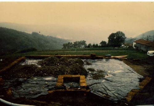 PREPARATION DE LA DALLE  12 OCT 1986