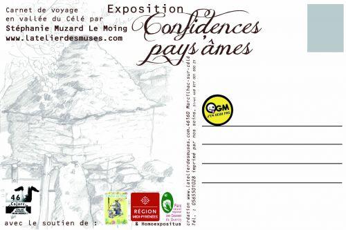 carte postale expo, recto