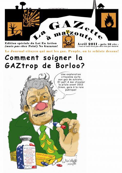 Une de l'édition spéciale du Lot En Action, création cartouche et illustrations, nom de la gazette.