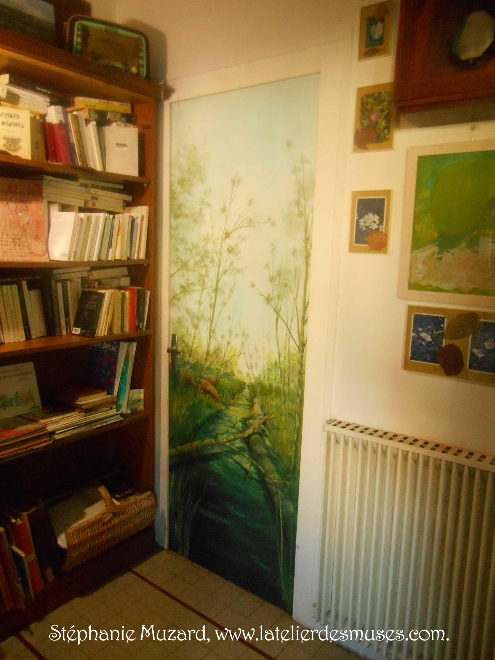 décor sur porte, Sablonceaux (17)