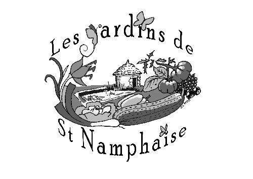 les jardins de st namphaise, identité visuelle