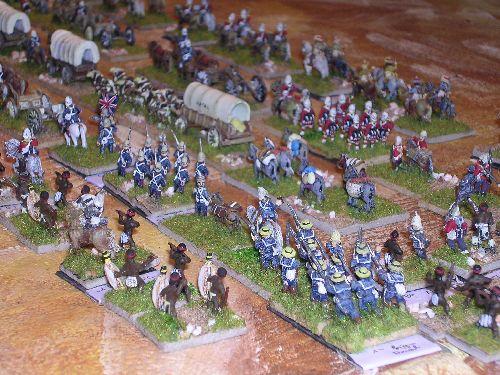 les bataillons de royal marines et de la 1 ère brigade navale ferment la marche