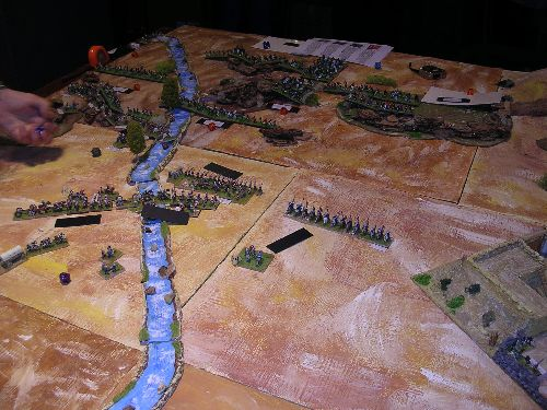 les autres élément de la colonne vont pouvoir regagner le fort les troupes sont déployées