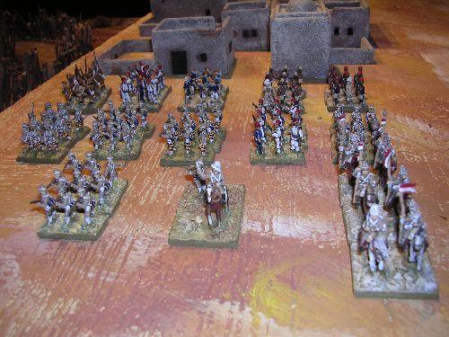 vue des troupes soclées