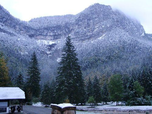 Samedi matin au levé du jour la neige a fait son apparition, modérement