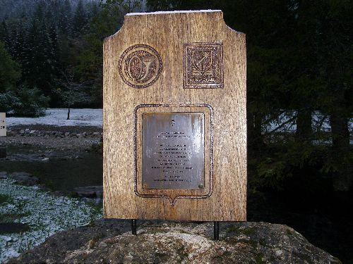 Plaque commémorative du passage des maquisards, pendant une sombre période notre histoire