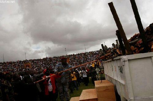 Bagbo et Sooro scellent la paix au stade municipal de Bouaké
