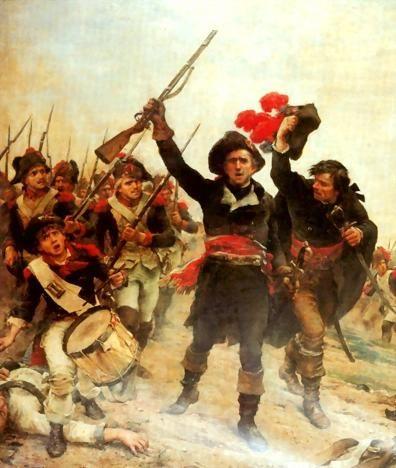 Le représentant du peuple , Lazare Carnot à l'attaque de Wattignies