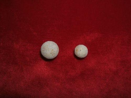 une balle de mousquet et une sous munition autrichienne
