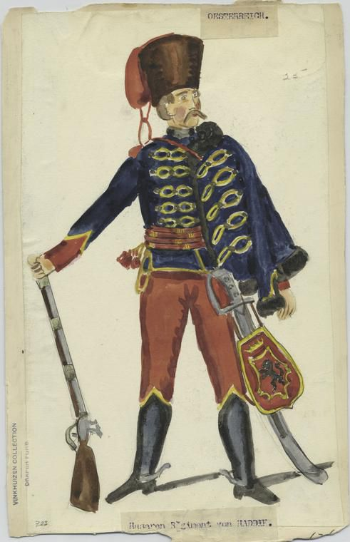 Un hussard du régiment du colonel Haddick