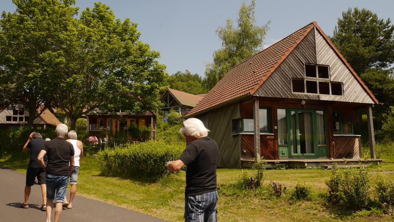 Les bungalows où nous logeons.