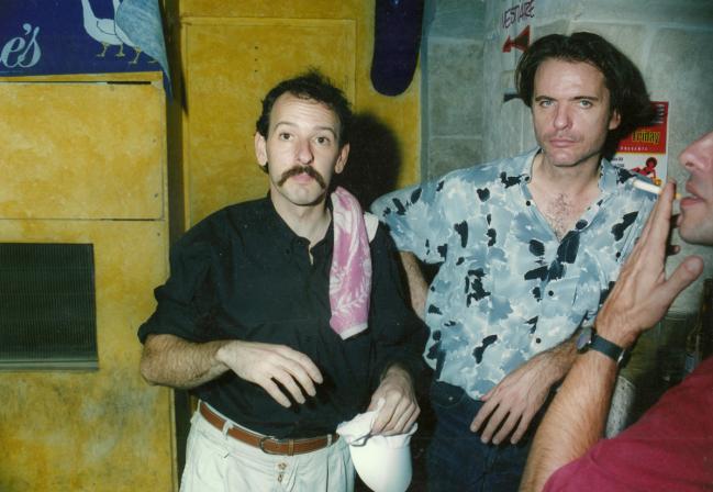 Au bar avec Emmanuel Bex, à l'époque de Tertio, en 94