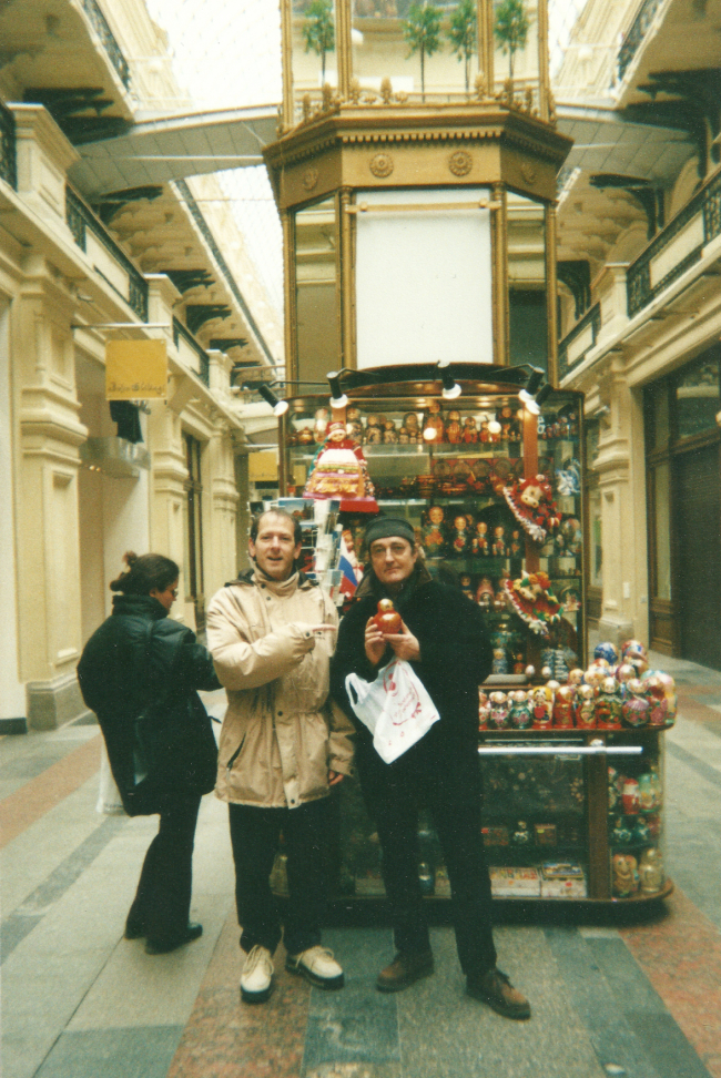 Moscow, with Didier  (Djivan Gasparian Tour 2002)