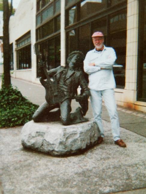Hugh and Jimi (il fut son roadie en 1968 / he was his roadie in 1968 !)