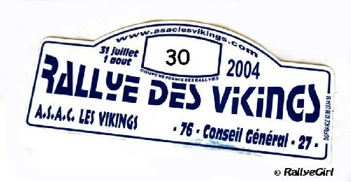 Plaque Rallye Viking 2004 par Rallyegirl
