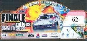 Photo plaque Rallye Finale en Corse 2005