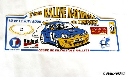 Plaque Rallye du Tréport 2006 par Rallyegirl