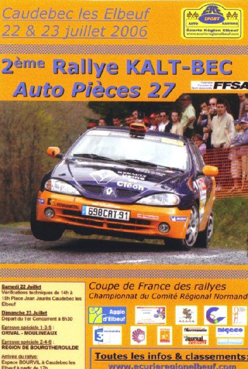 Affiche Rallye Kalt Bec 2006