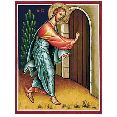 Christ frappant à la porte