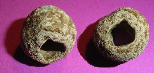 Perle de plomb formant lest