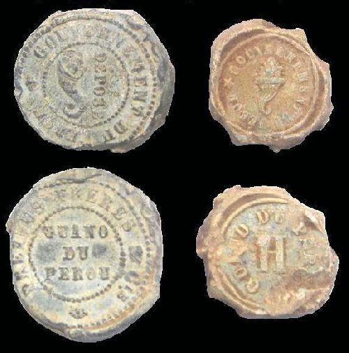 Plomb pour sceller 1852 à 1886