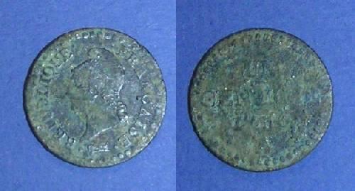 UN CENTIME DUPRE L'AN 6  1797-1798