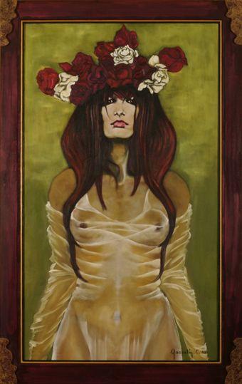 La femme à la couronne de fleurs