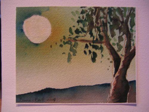 Clair de lune, fait sur un fond râté, destiné à la poubelle (2006)