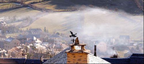 Brouillard d'hiver à Séverac le château