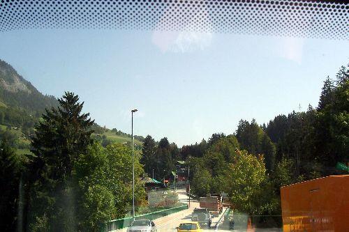 arrivée à Flumet en Savoie