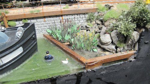 pose de la vegetation d'eau sur saint michel sur audiard