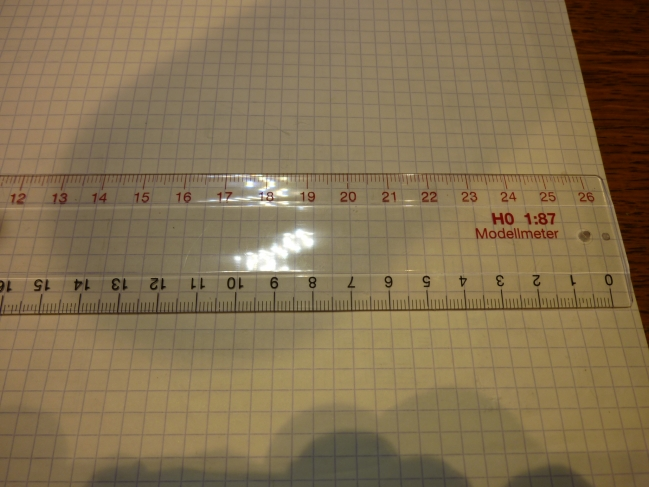règle pour échelle 1/87 et 1/1  AUHAGEN